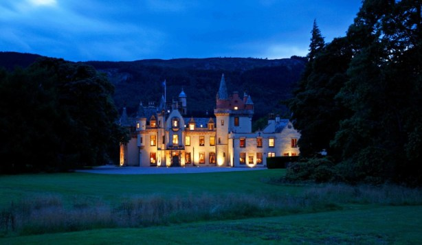 1. Aldourie Castle at night