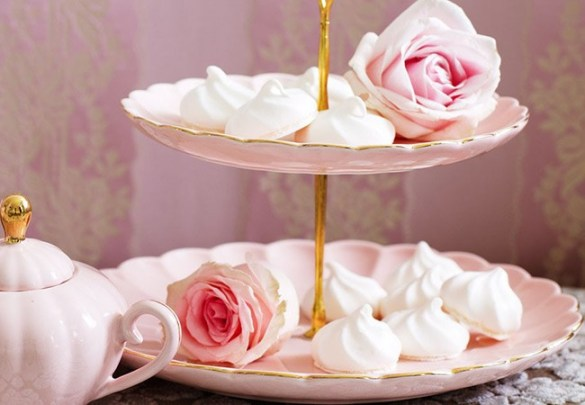 Sugar Plum Cottage , bombay_duck- blush pink-and-gold-cake-stand,  stunning cake stand from the Belle range in pretty blush pink with a gold rim.  A true vintage feel to this stand which would be a perfect addition to any afternoon tea party or wedding and would even look beautiful dressed with flowers or jewellery as a centrepiece.  The stand is gift boxed. Height 25cm. Plate diameter small 20cm, large 26cm. Hand wash only.
