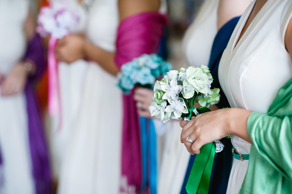 key reflections photography, paper bouquets by ribbons and tulle, colourful pashminas