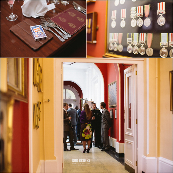 rob grimes photography, table details, wedding reception, wedding guest, military medals