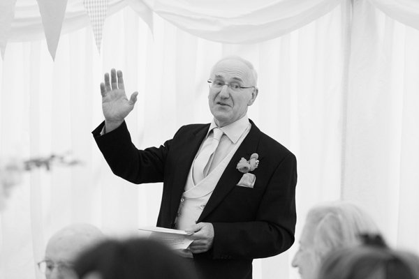 Hayley Ruth Photography,Sturmer Hall , father of the bride speech