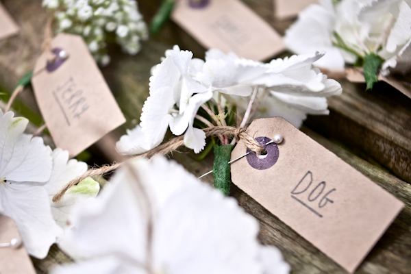 Karen Massey Photography, name tags, place cards, white peony