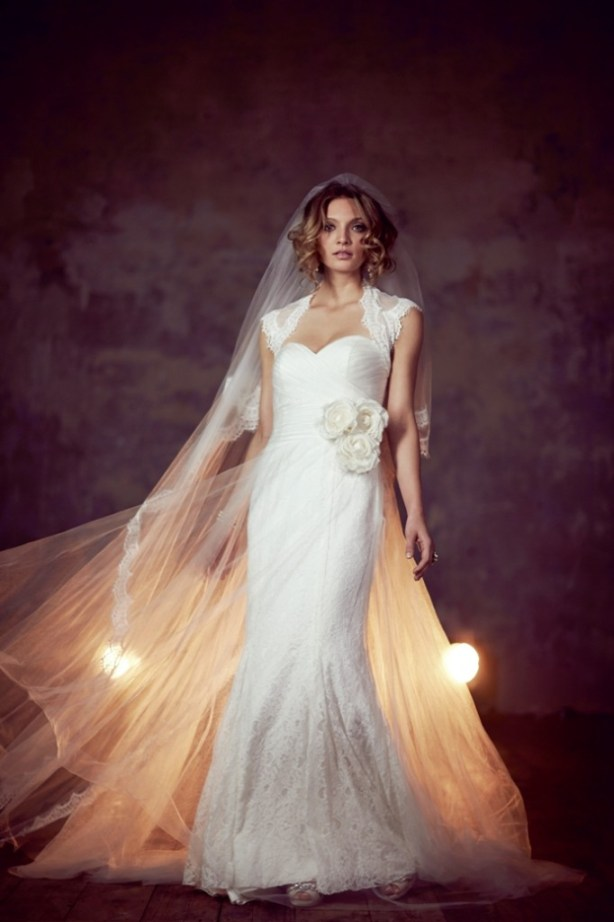 """8"" Bridal Collection,  Phase Eight, esme dress, wedding dress with a striking fishtail silhouette featuring a fitted crossover sweetheart neckline and a luxurious floor-length lace skirt"