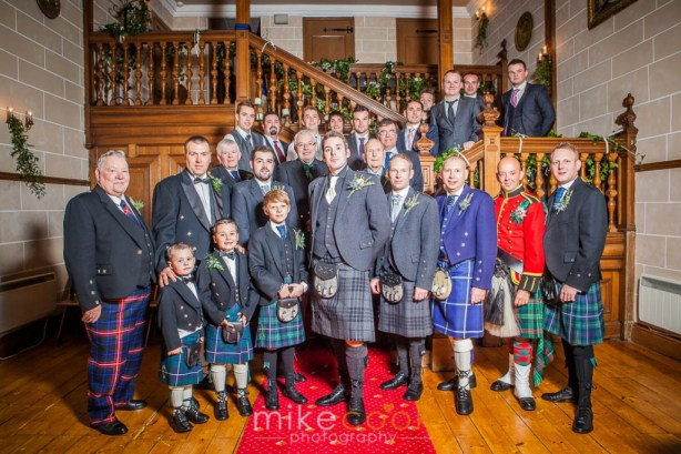 groom, groomsmen, male guests, dalhousie castle, mike cook photography