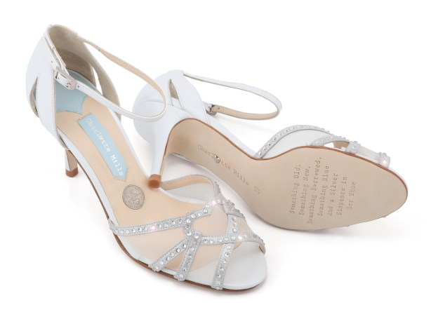 charlotte mills bridal footwear, wedding shoes, bridal shoes, lucky sixpence,