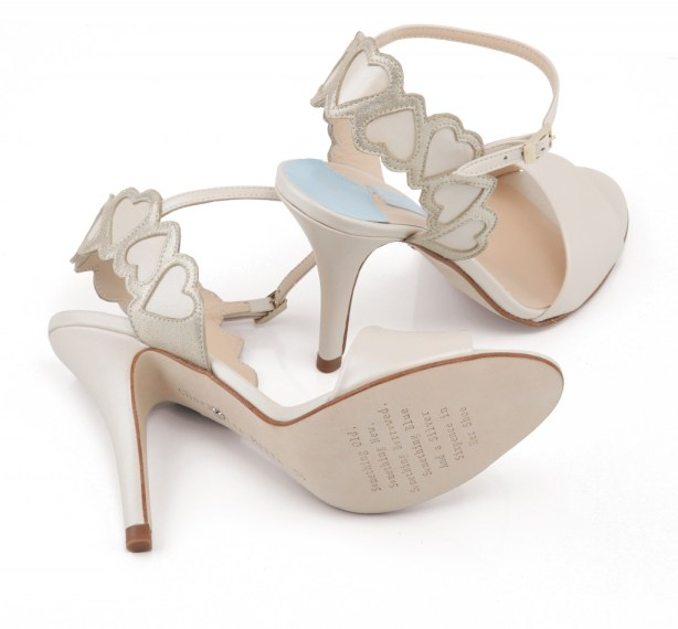 Love Hearts, Designer Bridal Footwear, Charlotte Mills , Angela Shoe