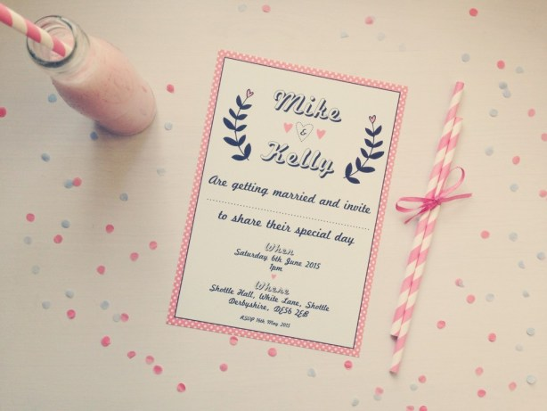 Invitation - The Strawberry Shake Collection, wedding stationery, Best Day Ever