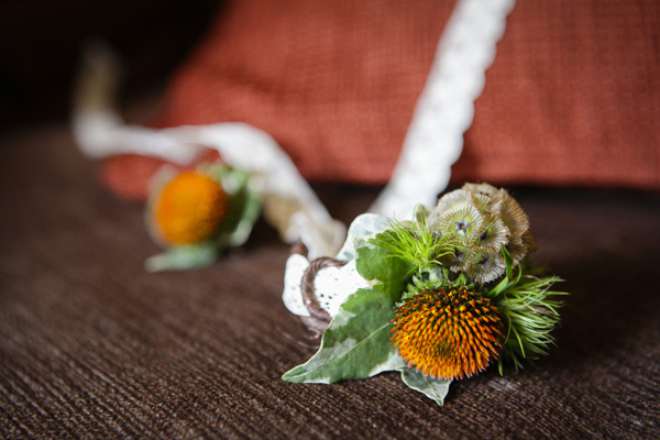 yellow flower corsage , silver photography