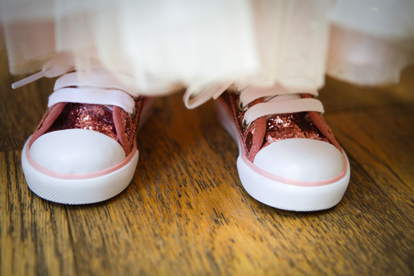 pink sparkly flower girl shoes, silver photography