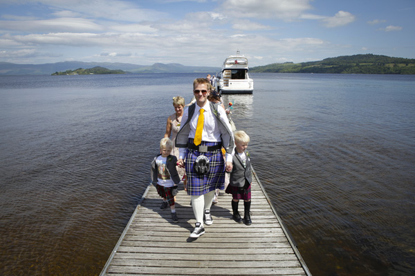 loch lomond, wedding party, silver photography