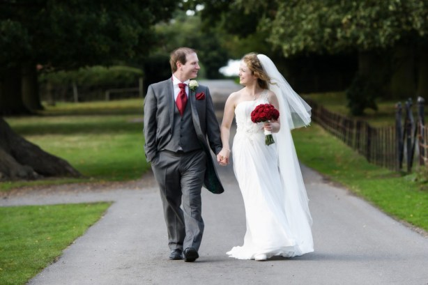 Layer-Marney-Tower, Pengelly-Photography, bride and groom, red rose bouquet - traditional vintage flower company