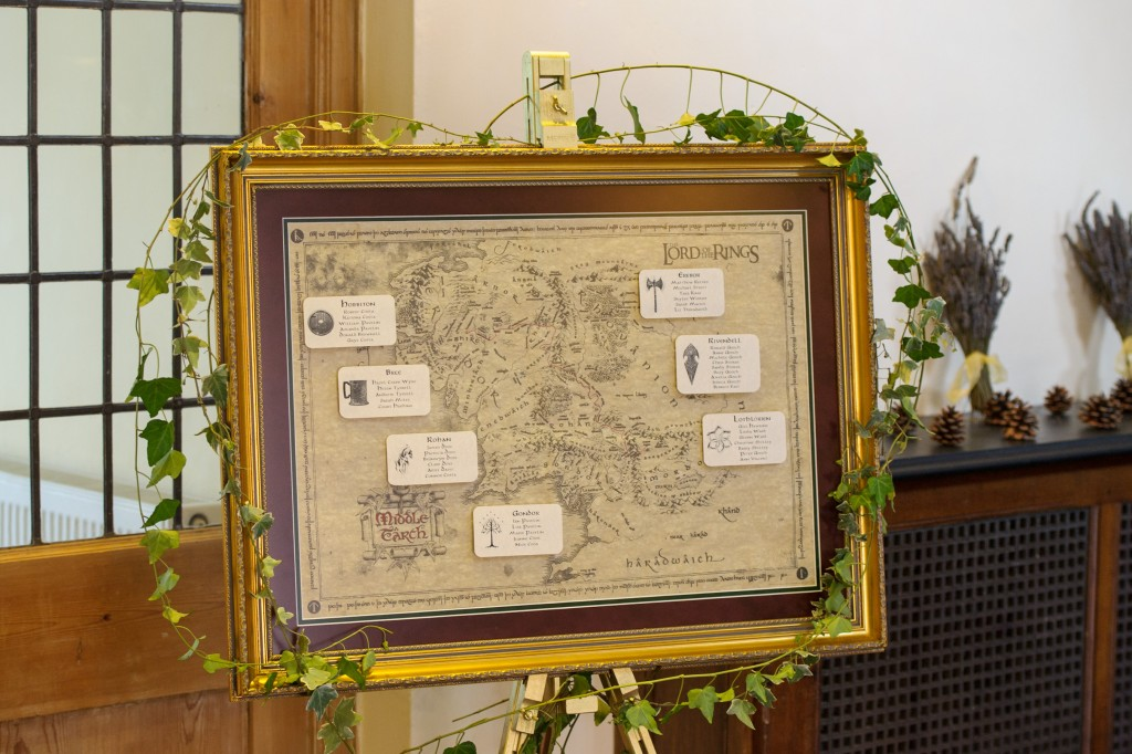 Layer-Marney-Tower, Pengelly-Photography, middle earth tableplan, middle earth seating plan, lord of the rings table plan, lord of the rings seating plan