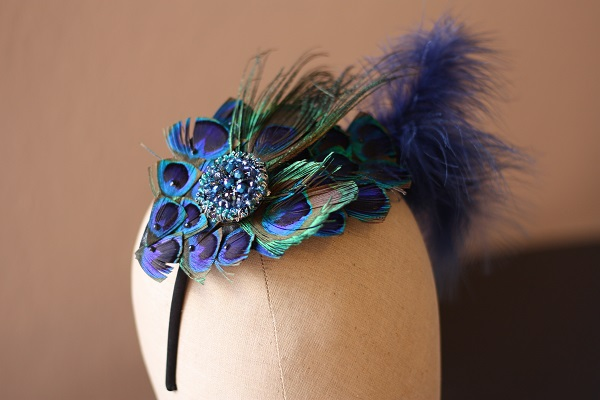 Samantha Walden, Peacock headdress, Historically inspired headdresses , historically inspired tiara, vintage tiara/