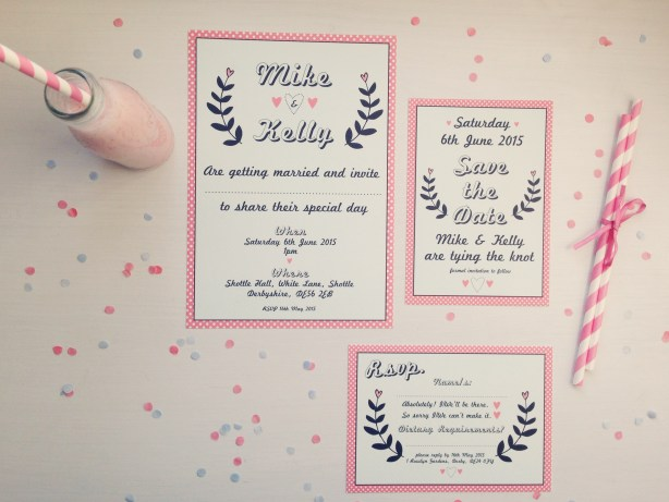 The Strawberry Shake Collection, Best Day Ever , Wedding Stationery