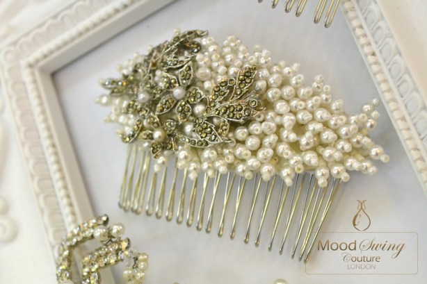 charice vintage bridal comb, moodswing couture london