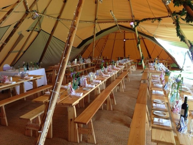 Peak tipis, unusual wedding venue, derbyshire tipi supplier, inside a tipi