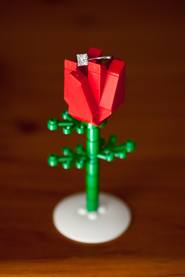 lego wedding, lego themed wedding, gemma clarke photography, sydney wedding photographer, lego red rose, ring shot