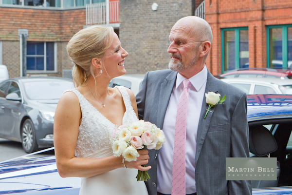 Winchester wedding photography, Martin Bell Photography, bride and father of the bride