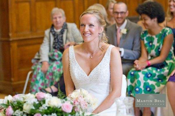 Winchester wedding photography, Martin Bell Photography, smiling bride
