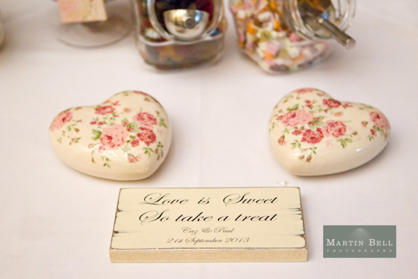 sweetie buffet sign, Winchester wedding photography, Martin Bell Photography,