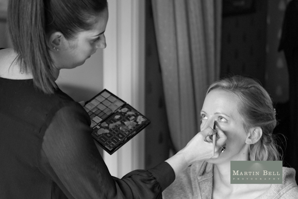 Winchester wedding photography, Martin Bell Photography, bridal make up