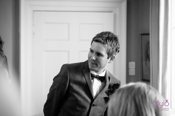 first look, waiting groom, mylo photography