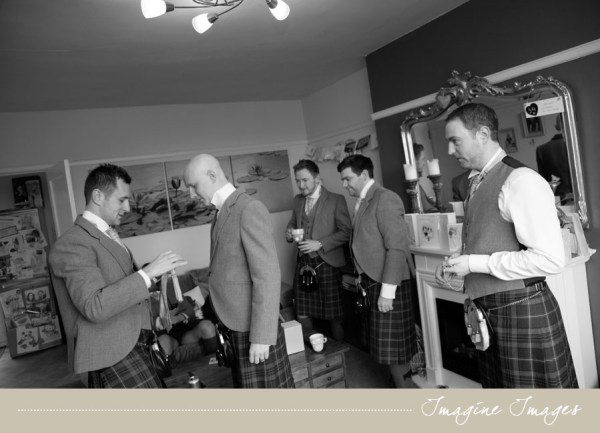groom and groomsmen getting ready, lochgreen house, imagine images