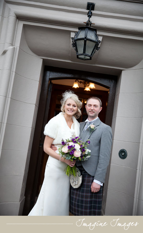imageine images, bride and groom, lochgreen house