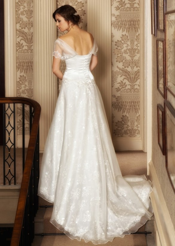 Helena  - Love & Romance Collection - Qiana Bridal (close up back.)