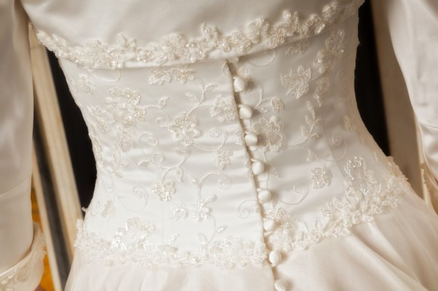 Lydia  - Love & Romance Collection - Qiana Bridal (back detail)