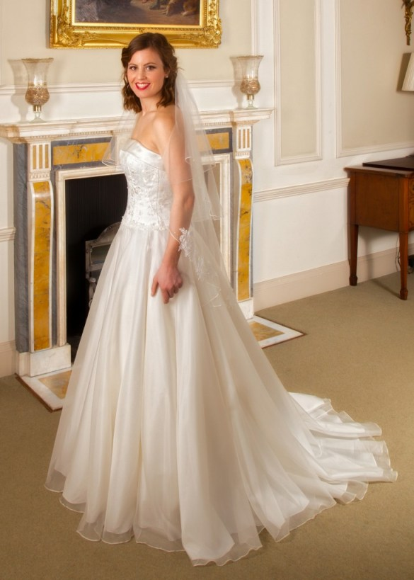 Lydia  - Love & Romance Collection - Qiana Bridal (side close up)