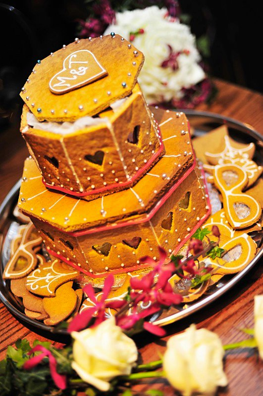 gingerbread wedding cake, maid of gingerbread, hackney london