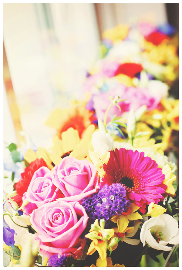 rainbow florals, olivia whitbread roberts photography