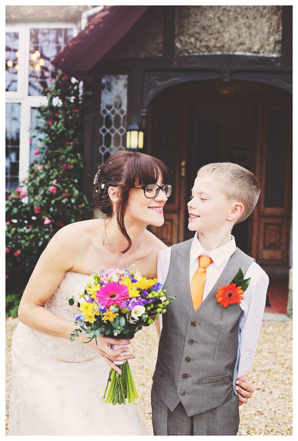 bride and son, olivia whitbread roberts photo