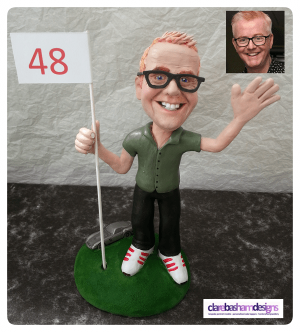 Chris Evans Personalised Cake Topper, personalised cake topper, clare basham designs