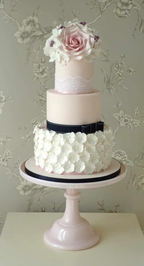 The-Designer-Cake-Company, Roses-Ruffles cake, Hitched