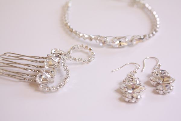 deco jewellery, susan dick jewellery, bridal accessories