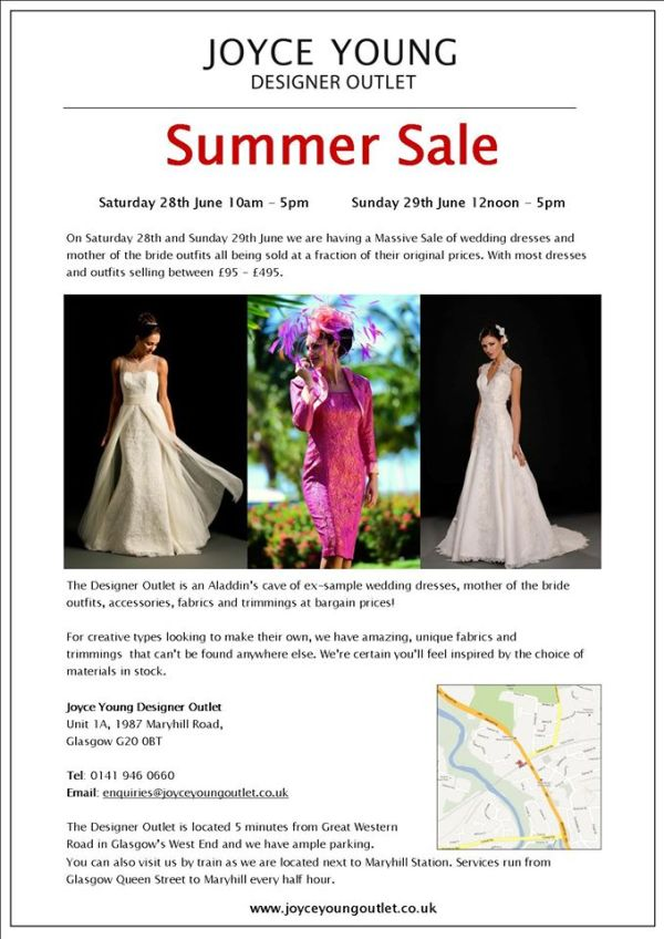 joyce young outlet, summer sale, by storm, wedding dresses, mother of the bride outfits