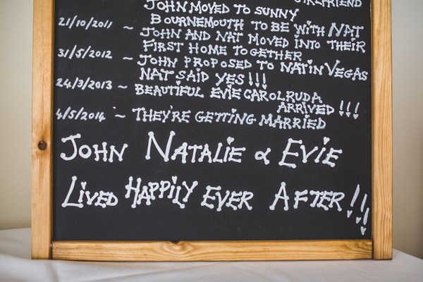 love story chalk board, nick rutter photo