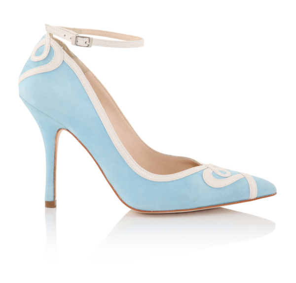 Ana (Blue), wedding shoe, bridal shoe, bridal footwear, charlotte mills bridal