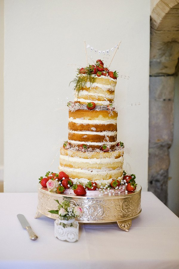 Lee Meek photography - Rebecca & Luke , naked cake, surrey wedding, farnham castle