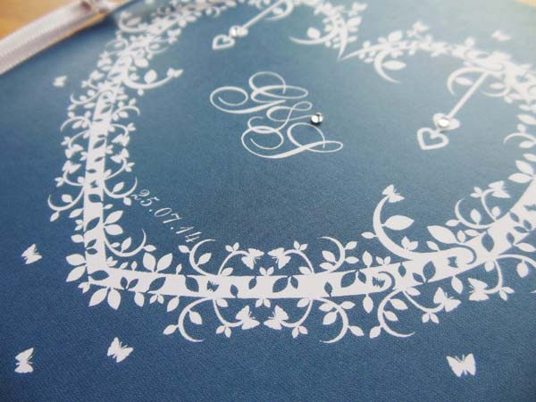 Illustrative wedding statioery,  laser cut wedding stationery, The Butterfly and the Belljar