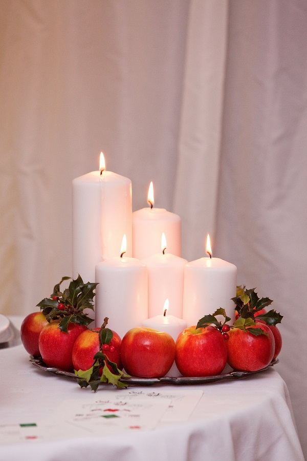 Winter Wedding Marquee Styling Detail Candles - Deer Park