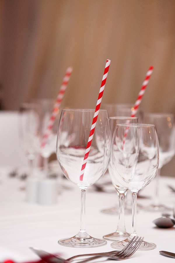Winter Wedding Marquee Styling Detail Shot Drinks - Deer Park