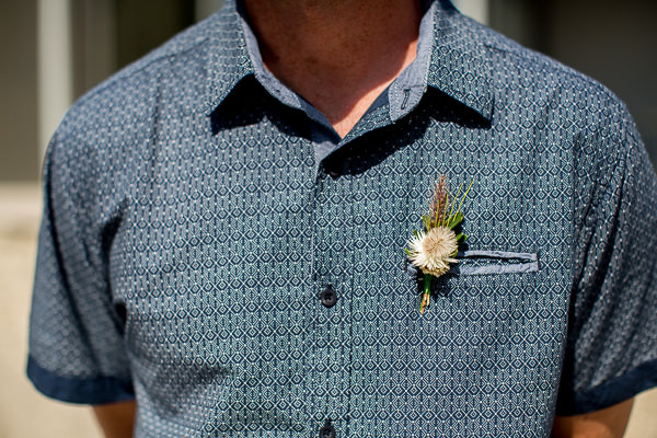 Gemma Clarke Photography, intimate wedding, bluestone bay tasmania, alba and ebon flowers - buttonhole