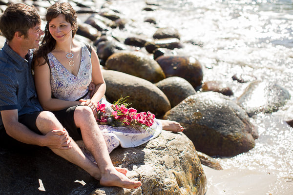 Gemma Clarke Photography, intimate wedding, bluestone bay tasmania, ASOS dress