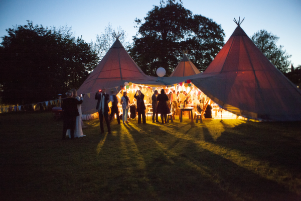 bridwell, devon wedding venue, glamping, tipi