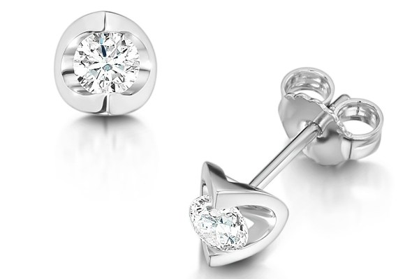 brilliant-cut-diamond-set-earrings, bridesmaid gifts, laing the jewellers