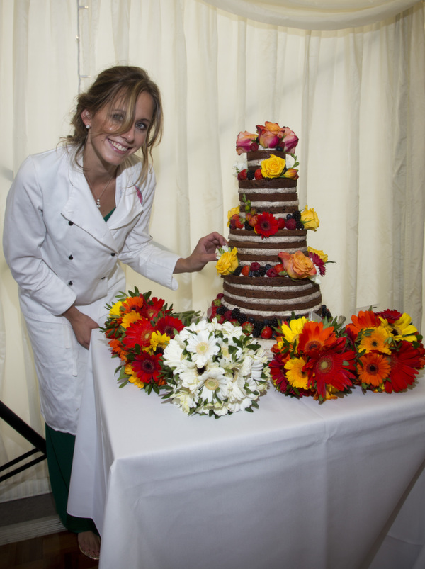 rowan_wedding cake, Anna's Bakes, naked wedding cakes, brownie wedding cake