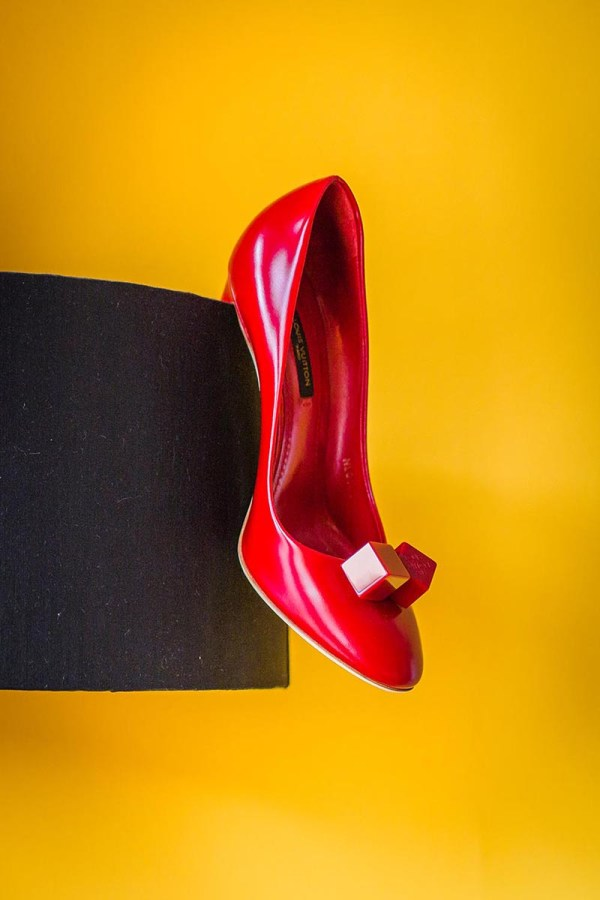cherry-red-louis-vuitton-wedding-shoes, nick rutter photo